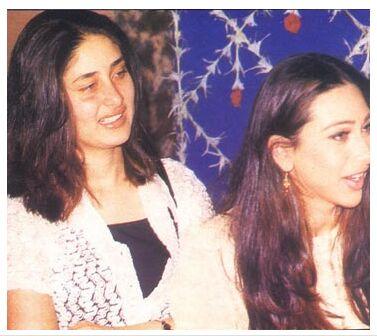 Kareena with Karisma at a function.