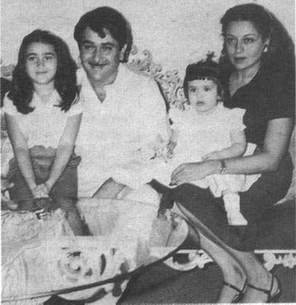 Baby Kareena in mom Babita's arms.